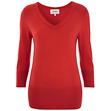 Buy Havren Button Back Jumper, Orange Online at johnlewis.com