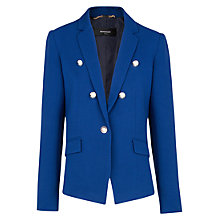 Buy Mango Emblem Button Blazer, Blue Online at johnlewis.com