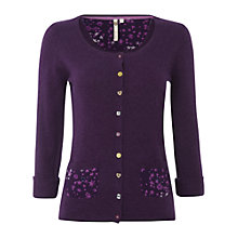 Buy White Stuff Heritage Cardigan, Deep Purple Haze Online at johnlewis.com