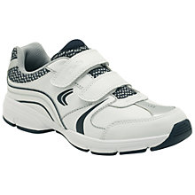 Buy Clarks Fluency Go Trainers, White/Navy Online at johnlewis.com