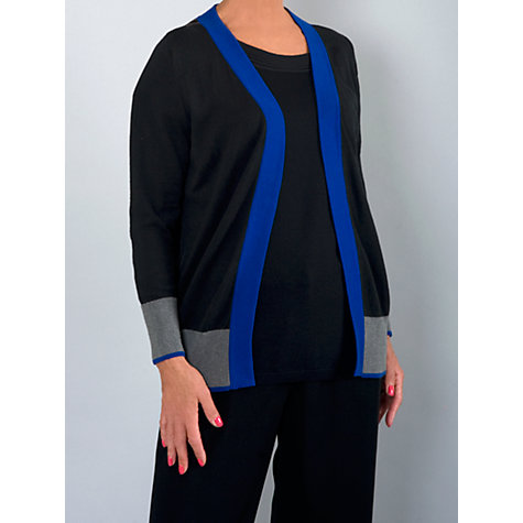 Buy Chesca Sunray Yoke Cardigan, Black/Blue Online at johnlewis.com