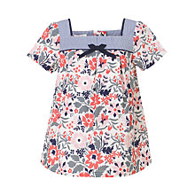 Buy John Lewis Girl Floral Print Cotton Top, Multi Online at johnlewis.com
