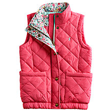 Buy Little Joule Lowen Quilted Gilet, Pink Online at johnlewis.com