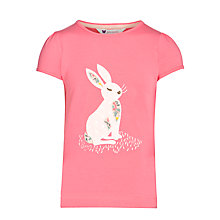 Buy John Lewis Girl Rabbit Motif T-Shirt, Pink Online at johnlewis.com