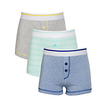 Buy Kin by John Lewis Boys' Cotton Trunks, Pack of 3, Multi Online at johnlewis.com