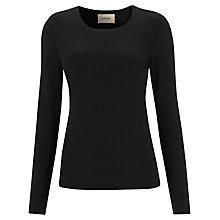 Buy Havren Scoop Neck Jersey T-shirt, Black Online at johnlewis.com