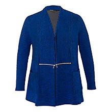 Buy Chesca Zip Detailed Cardigan, Blue/Black Online at johnlewis.com