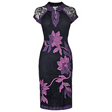 Buy Phase Eight Kim Tapework Dress, Black/Purple Online at johnlewis.com