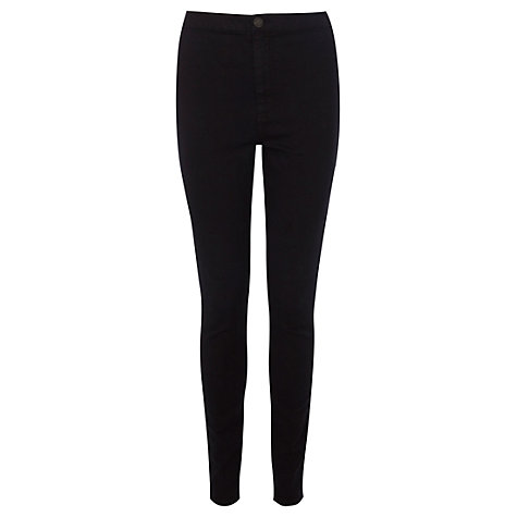Buy Warehouse High Rise Skinny Jeans, Black Online at johnlewis.com