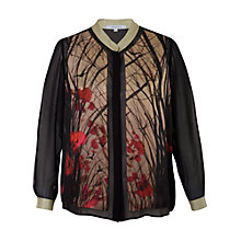 Buy Chesca Woodland Blouse, Black Online at johnlewis.com