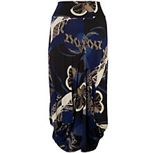 Buy Chesca Printed Drape Skirt, Black/Blue Online at johnlewis.com