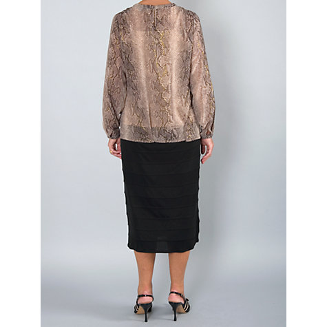 Buy Chesca Snake Print Blouse, Beige Online at johnlewis.com