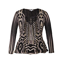 Buy Chesca Snake Print Top, Beige Online at johnlewis.com
