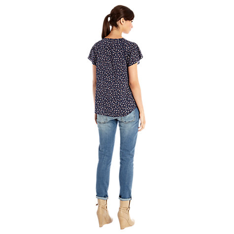 Buy Warehouse Pretty Ditsy Top, Multi Online at johnlewis.com