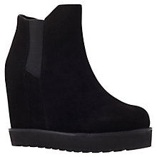 Buy KG by Kurt Geiger Sonar Wedge Ankle Boots, Black Online at johnlewis.com
