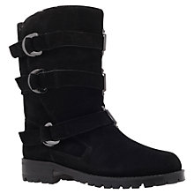 Buy KG by Kurt Geiger Scandi Ankle Boots, Black Suede Online at johnlewis.com