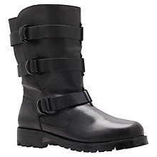 Buy KG by Kurt Geiger Scandi Ankle Boots, Black Leather Online at johnlewis.com