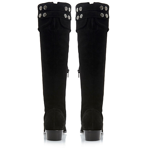 Buy Dune Tish Knee Boots, Black Online at johnlewis.com