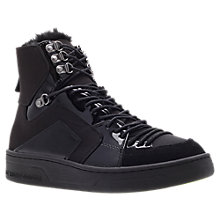 Buy KG by Kurt Geiger Lucky High-Top Trainers, Black Online at johnlewis.com