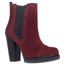 Buy KG by Kurt Geiger Shannon Ankle Boots, Wine Online at johnlewis.com