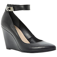 Buy Dune Annex Wedge Ankle Strap Court Shoes, Black Online at johnlewis.com