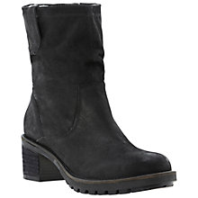 Buy Dune Peeps Ankle Boots, Black Online at johnlewis.com