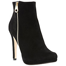 Buy Dune Niks Suede Ankle Boots, Black Online at johnlewis.com