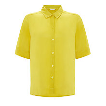 Buy Kin by John Lewis Short Sleeve Square Shirt, Yellow Online at johnlewis.com