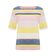Buy Kin by John Lewis Rainbow Striped Top, Multi Online at johnlewis.com