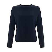 Buy Kin by John Lewis Saddle Shoulder Sweatshirt, Navy Online at johnlewis.com
