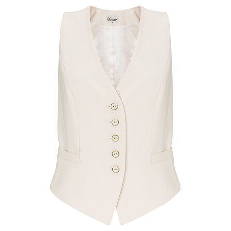 Buy Somerset by Alice Temperley Waistcoat, Cream Online at johnlewis.com