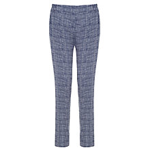 Buy Kin by John Lewis Floaty Grid Print Trousers, Navy Online at johnlewis.com