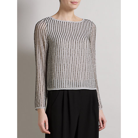 Buy Somerset by Alice Temperley Beaded Top, Dove Online at johnlewis.com