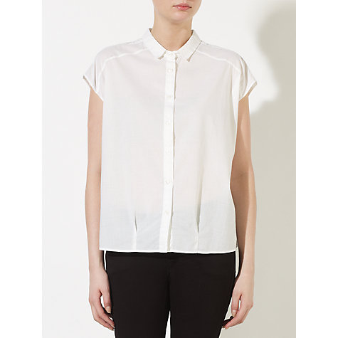 Buy Kin by John Lewis Sleeveless Shirt, White Online at johnlewis.com