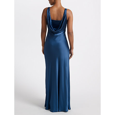 Buy John Lewis Lliana Long Satin Dress, Blue Online at johnlewis.com