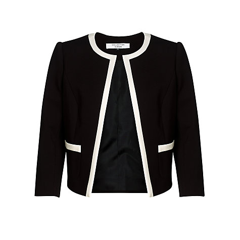 Buy COLLECTION by John Lewis Ponte Jacket, Black/Cream Online at johnlewis.com