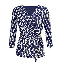 Buy COLLECTION by John Lewis Kirsten Rope Print Top, Navy/Vanilla Online at johnlewis.com