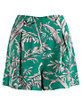 Somerset by Alice Temperley Palm Print Shorts, Green