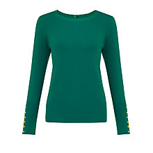 Buy Somerset by Alice Temperley Button Detail Jumper, Green Online at johnlewis.com
