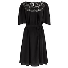 Buy Somerset by Alice Temperley Embroidered Dress, Black Online at johnlewis.com