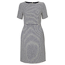Buy COLLECTION by John Lewis Amy Short Sleeve Striped Dress, Navy/Vanilla Online at johnlewis.com