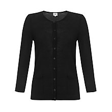 Buy Kin by John Lewis Merino Pocket Cardigan, Black Online at johnlewis.com