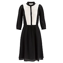 Buy Somerset by Alice Temperley Pleated Dress, Black/Cream Online at johnlewis.com