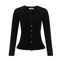 Buy Somerset by Alice Temperley Frill Cardigan, Black Online at johnlewis.com