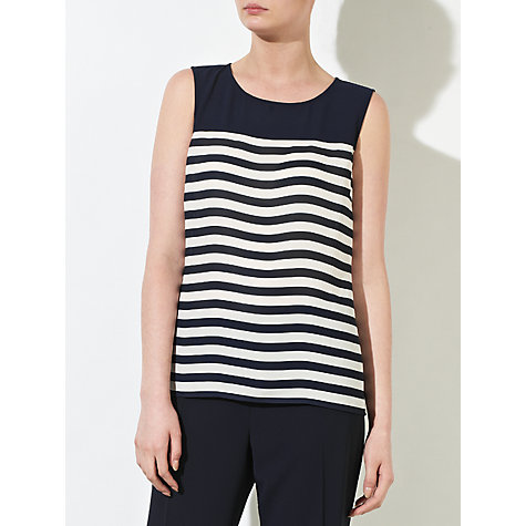 Buy COLLECTION by John Lewis Nicolette Striped Top, Navy/Cream Online at johnlewis.com