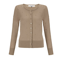 Buy COLLECTION by John Lewis Aurira Bobble Cardigan, Biscuit Online at johnlewis.com
