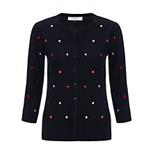 Buy COLLECTION by John Lewis Bobby Spot Cardigan, Navy/Multi Online at johnlewis.com