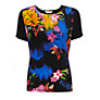 Buy COLLECTION by John Lewis Fleur Printed Top, Black/Multi Online at johnlewis.com