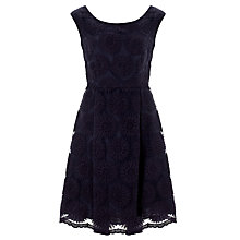 Buy Somerset by Alice Temperley Daisy Organza Dress, Navy Online at johnlewis.com