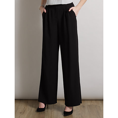 Buy Somerset by Alice Temperley Wide Leg Trousers, Black Online at johnlewis.com